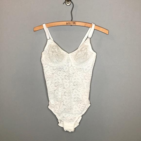 60449135d Bali Other - Bali Lace Bodysuit Bra White 36B Stretch Shapewear